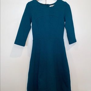 BODEN Curve and Flare Textured Blue Dress WW113